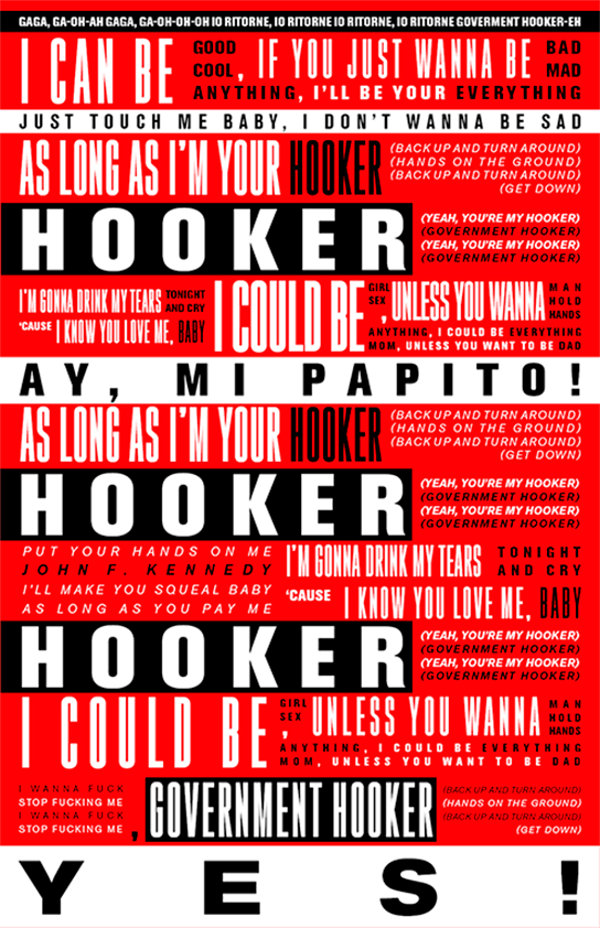 Lady Gaga - Government Hooker typographie