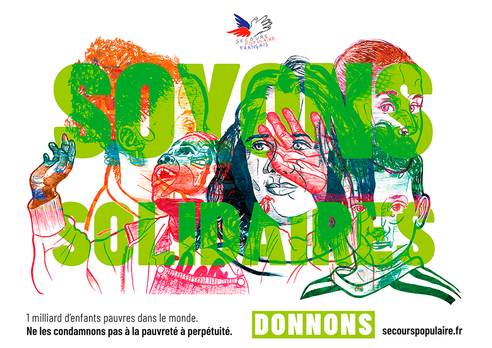 Affiches secours populaire